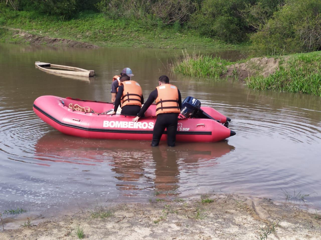 Na tarde de quarta, 07, o Corpo de Bombeiros fez o resgate do corpo do rio Santa Maria